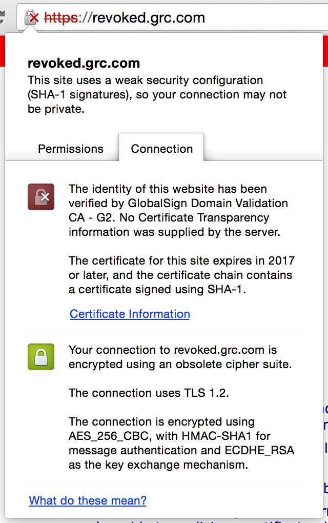 Working with ssl the meteor chef this example from revokedc demonstrates the appearance of a revoked ssl certificate yadclub Images